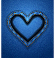 Jeans heart frame vector image