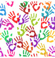 seamless texture handprints vector image
