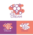 Colorful ice cream logo design concept vector image