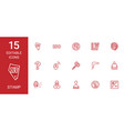 15 stamp icons vector image vector image