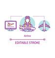 airline concept icon airplane crew idea thin line