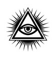 all-seeing eye the eye of providence vector image vector image