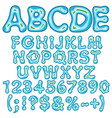 alphabet numbers in form an island vector image vector image