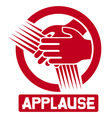 applause sign vector image
