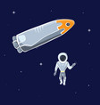 astronaut and rocket vector image