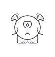 baby monster line icon concept baby monster vector image