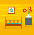 baby room background flat style vector image