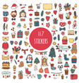 big collection of 117 element of merry christmas vector image vector image