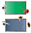 Billiard table top view for interior vector image vector image