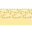 Birthday Decorations Bunting Horizontal Seamless vector image