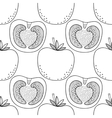 Black and white seamless pattern with tomatoes for vector image vector image
