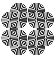 Black and white spiral background vector image
