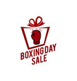 boxing day typography combined in a shape of vector image vector image