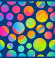 bright circle seamless pattern vector image vector image