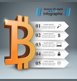 business infographics bitcoin money icon vector image vector image