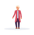 casual man standing pose wearing fashion clothes vector image
