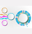 circle white abstract technology background with vector image