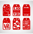 collection of happy valentines day gift tags set vector image