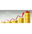 Concept of capital growth vector image vector image