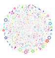 confetti stars salute spheric cluster vector image vector image