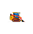 construction machinery compact excavator loader vector image vector image