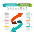 double arrow presentation concept infographic vector image