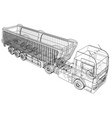 dump truck tipper lorry on transparent vector image vector image