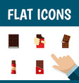 flat icon cacao set of chocolate sweet dessert vector image vector image