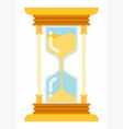 gold hourglass icon flat isolated vector image