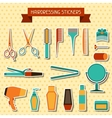 Hairdressing stickers vector image vector image
