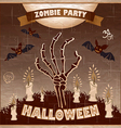 Halloween - Dead Mans arms from the ground with vector image vector image