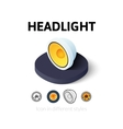 Headlight icon in different style vector image vector image