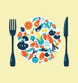 Healthy Food icons set Vegetable- vector image