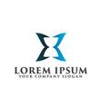 hourglass luxury logo design concept template vector image vector image