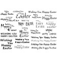 inscriptions happy easter vector image