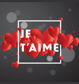 je taime background vector image