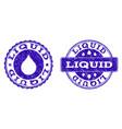 liquid grunge stamp seals vector image vector image