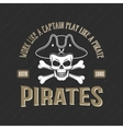 Logo Of Pirates Print vector image