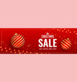 lovely red christmas sale banner design vector image vector image