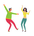 male and female dancers moving together vector image vector image