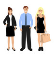 man and two beautiful women vector image vector image