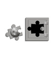 metal safe with a lock as a jigsaw puzzle vector image vector image