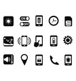 mobile setting icons set vector image vector image
