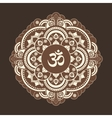 Monochrome henna tatoo mandala OM vector image vector image