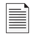 paper document icon on white background flat vector image
