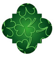pattern shape label st patrick day clover glossy vector image