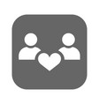 people with hearts - couple family and health vector image vector image