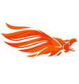 Phoenix logo eagle vector image vector image