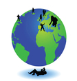 photographer picture the world with people on it vector image vector image