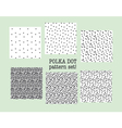 polka dot fabric sample assorted set of dotted vector image vector image